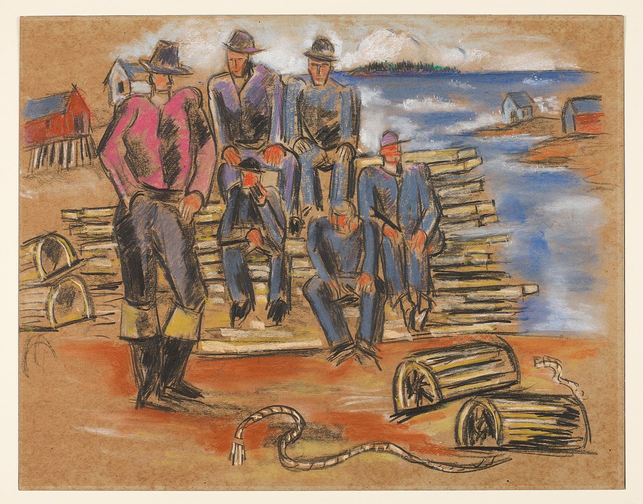 Study_for_-Lobster_Fishermen-_-_Marsden_Hartley