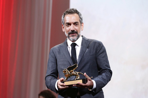 Todd Phillips receives the Golden Lion for Best Film Award for Joker during the Award Ceremony during the 76th Venice Film Festival