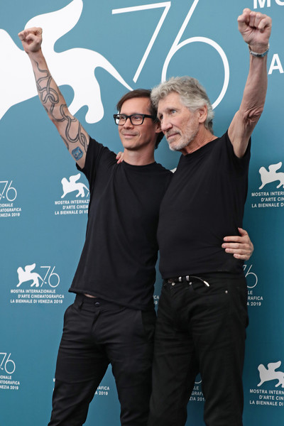 0991 Roger Waters Us + Them Photocall - The 76th Venice Film Festival - Roger Walters_ Sean Evans