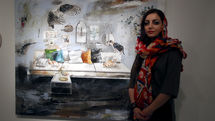 Sanaz Dezfoulian Painting Exhibit Underway