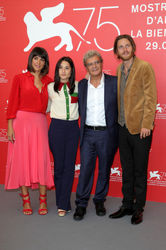 04 L-R) Donatella Finocchiaro_ Marianna Fontana_ Mario Martone and Reinout Scholten van Aschat attend _Capri-Revolution_ photocall during the 75th Venice Film Festival