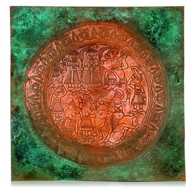 Ancient animal motifs back to life in metal embossing art collection
