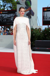 099 Juli Jakab walks the red carpet ahead of the _Napszallta (Sunset)_ screening during the 75th Venice Film Festival