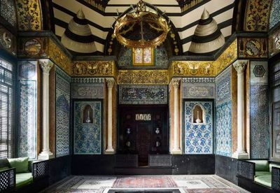 Opening of the Leighton Museum in England with mural by an Iranian artist