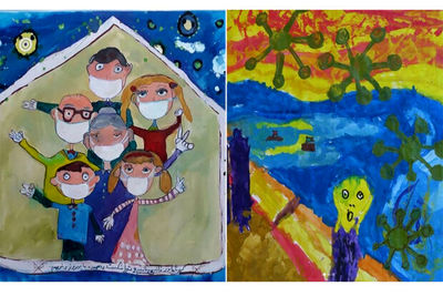 Golestan Gallery announces winners of children's corona painting competition