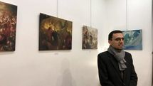 Paintings by Hassan Ruholamin on display at Paris exhibit