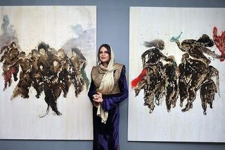 Hero Sheikholeslam painting exhibition opens at Sales Gallery