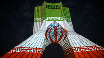 French Artist Lights Up Tehran's Azadi Tower