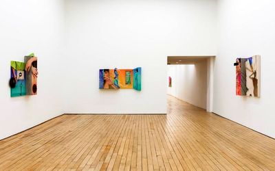 Paintings by Iranian artist on view at Rachel Uffner Gallery
