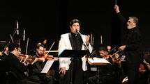 Salar Aghili-National Symphony Orchestra concert at Milad Tower