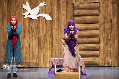 Lebanese Narrator Sara Kasir Tells Stories to Children in Tehran