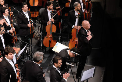 Culture and Art Orchestra performs with conductor Farhad Fakhreddini
