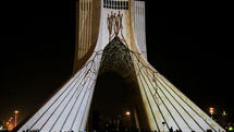 Light symphony of Peace Phoenix on Azadi Tower