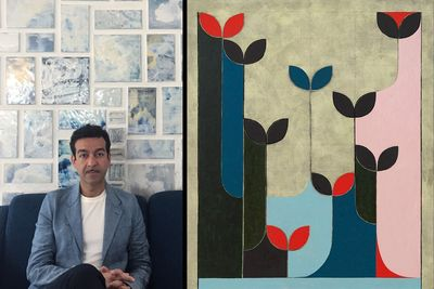 Iranian artist Kamrooz Aram's first exhibition in India